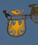 Emblema original del país alemán, Schwetzingen Imágenes de archivo libres de regalías