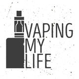 Emblema ou cartaz de um cigarro eletrônico Fotografia de Stock Royalty Free