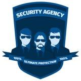 Emblema para la agencia de seguridad Imagen de archivo libre de regalías