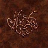 Emblema para la tienda Útil para el menú de la cafetería stock de ilustración