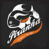 Emblema pericoloso misero della maglietta del pesce Immagini Stock