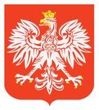 Emblema polacco dell'aquila Immagini Stock