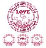 Emblema por el día de la tarjeta del día de San Valentín 1 Fotografía de archivo libre de regalías