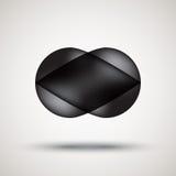 Emblema preto luxuoso da bolha com fundo claro Ilustração do Vetor