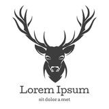 Emblema principal de los ciervos Fotos de archivo libres de regalías