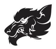 Emblema principal del hombre lobo Imagenes de archivo