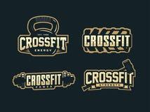 Emblema profissional moderno do logotipo ajustado para o crossfit Foto de Stock Royalty Free