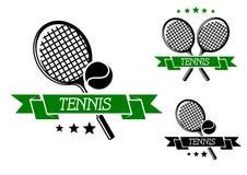 Emblema que se divierte del tenis grande Imagen de archivo libre de regalías