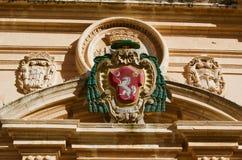 Emblema reale della città di Segovia in Spagna immagini stock libere da diritti