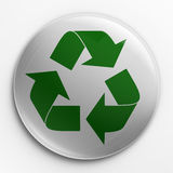 Emblema - recicl o logotipo Foto de Stock Royalty Free