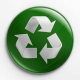 Emblema - recicl o logotipo Imagens de Stock
