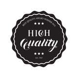 Emblema redondo de alta calidad Imagenes de archivo
