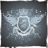 Emblema retro de Grunge con la pista del grifo Imagen de archivo