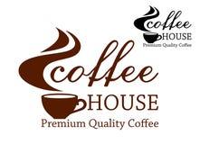 Emblema retro del café Imagen de archivo libre de regalías