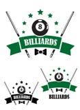 Emblema retro del estilo del billar Imagen de archivo