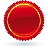 Emblema rosso Immagine Stock