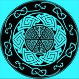 Emblema rotondo di astrazione insolita con differenti forme geometriche royalty illustrazione gratis
