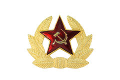 Emblema soviético fotografia de stock