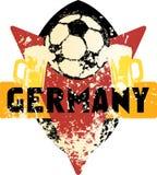 Emblema sujo imaginário Alemanha do futebol/futebol Fotos de Stock
