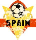 Emblema sujo imaginário spain do futebol/futebol Foto de Stock Royalty Free