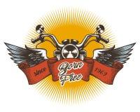 Emblema variopinto del club del motore Fotografia Stock Libera da Diritti