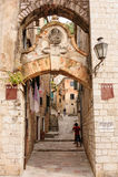 Emblema Venetian do leão de Kotor Fotografia de Stock
