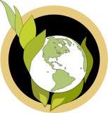 Emblema verde delle mani Immagine Stock Libera da Diritti