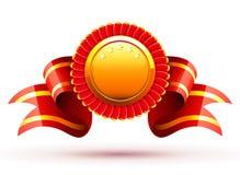 Emblema vermelho ilustração stock