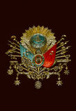 Emblema viejo del imperio otomano Fotos de archivo libres de regalías