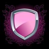 Emblema viola lucido dello schermo royalty illustrazione gratis
