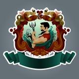 Emblemantikvitet vid design Royaltyfri Foto