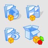 Emblemas. ilustração stock