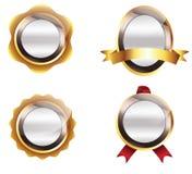 Emblemas ilustração stock