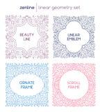Emblemas abstractos lineares del vector Fotografía de archivo libre de regalías