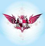 Emblemas abstratos de w do fundo Foto de Stock
