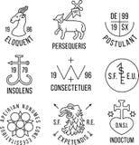 Emblemas antiguos del estilo de la heráldica Fotos de archivo libres de regalías