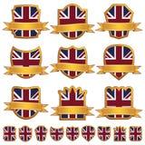 Emblemas britânicos ilustração stock