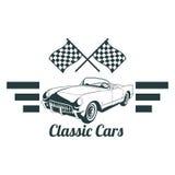 Emblemas clásicos del coche del músculo, insignia retra de alta calidad e icono del vintage Diseñe los elementos para la reparaci Foto de archivo libre de regalías