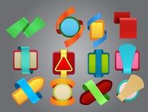 Emblemas coloridos Imagem de Stock