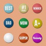 Emblemas coloridos Fotos de Stock Royalty Free