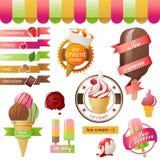 Emblemas do gelado Imagens de Stock