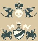 Emblemas heráldicos Ilustración del Vector