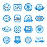 Emblemas da água ajustados ilustração royalty free
