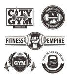 Emblemas da aptidão ajustados Fotografia de Stock Royalty Free