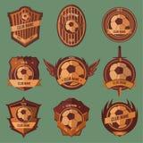 Emblemas da bola de futebol Imagens de Stock Royalty Free