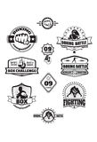 Emblemas da caixa Foto de Stock Royalty Free