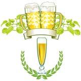 Emblemas da cerveja Fotografia de Stock