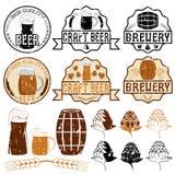 Emblemas da cerveja do Grunge Imagem de Stock Royalty Free