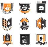 Emblemas da cozinha Imagem de Stock
