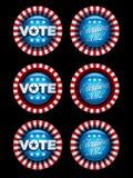 Emblemas da eleição ajustados Fotografia de Stock Royalty Free